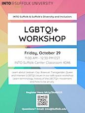 Diversity & Inclusion Workshop: LGBTQIA+ tickets