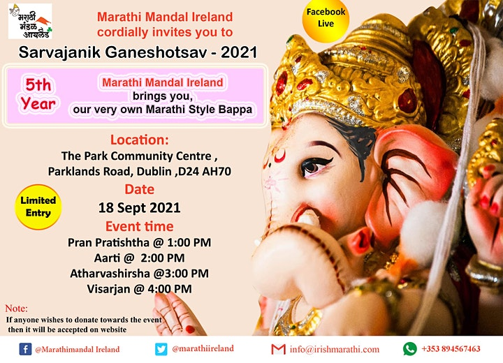 Marathi Mandal Ireland - Sarvajanik Ganeshotsav 21 image