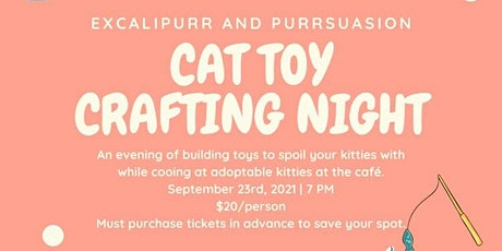 Craft Night with Purrsuasion - Cat Toys billets
