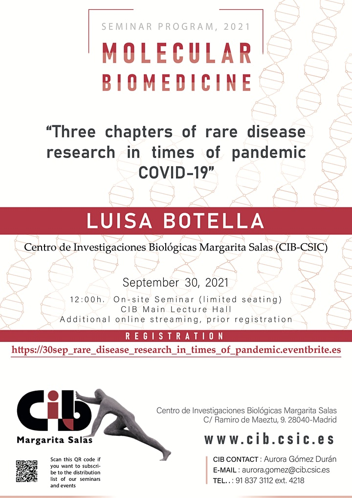 Imagen de Three chapters of rare disease research in times of pandemic COVID-19
