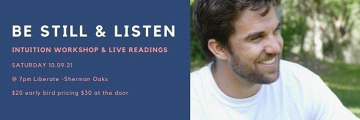 IN PERSON   Be Still & Listen: Workshop & Live Readings image