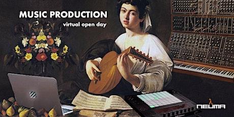 """Virtual Open Day corso """"Music Production"""" 3° edizione biglietti"""
