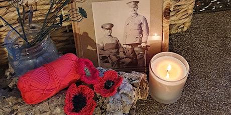 Beginners crochet - create a beautiful remembrance poppy brooch tickets