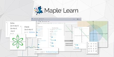 Student Orientation Week: Maple Learn & Maple Calculator Training tickets
