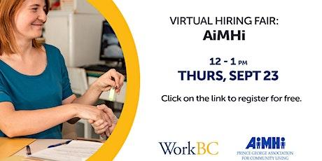 Virtual Hiring Fair - AiMHi tickets