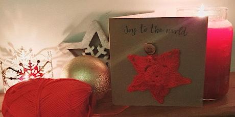 Beginners Crochet - create 6 gorgeous crochet star Christmas cards tickets