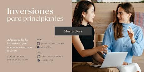 Inversiones Para Principiantes - Masterclass entradas