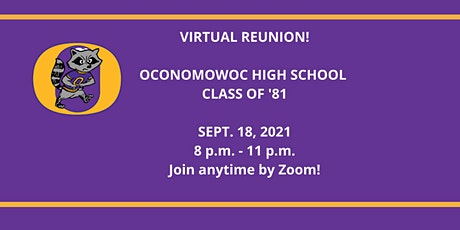 Oconomowoc High School Class of '81 Virtual Reunion ingressos