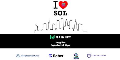 I ❤️ SOL - Saber, Blockdaemon, Solana Monkey Business & Reciprocal Ventures tickets