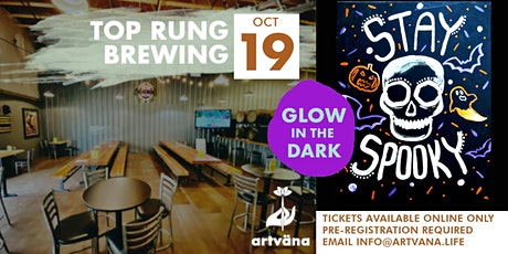 GLOW in the DARK Sip and Paint class at Top Rung tickets