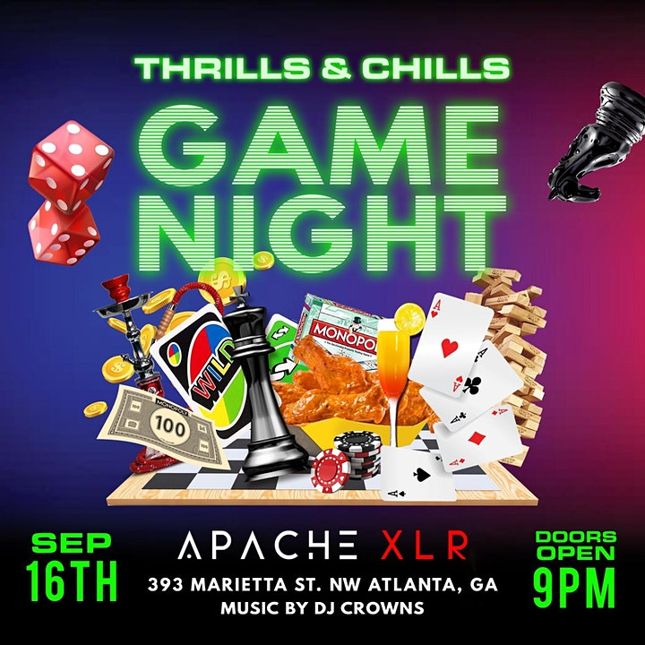DJ Crowns Presents: Thrills & Chill Adult Game Night image