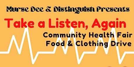 Health Fair Food And Clothing Drive: Take A Listen tickets