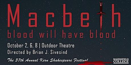 Kern Shakespeare Festival - Macbeth tickets