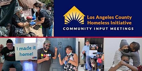 Evening Community Input on Homelessness tickets