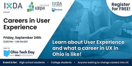 Careers in User Experience (part of Ohio Tech Day) tickets