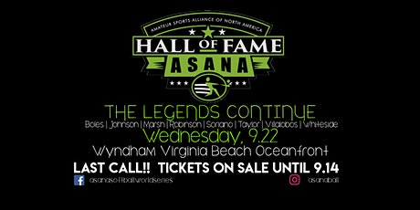 2021 ASANA Hall of Fame Induction Dinner tickets