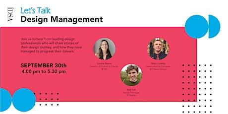 IDSA Let's Talk Design Management tickets