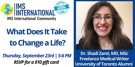 IMS-International Community 8th Seminar Series with Dr. Shadi Zarei tickets