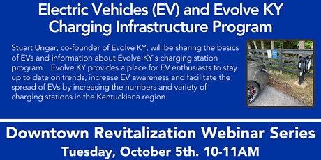 Electric Vehicles (EV) and Evolve KY Charging Infrastructure Program tickets