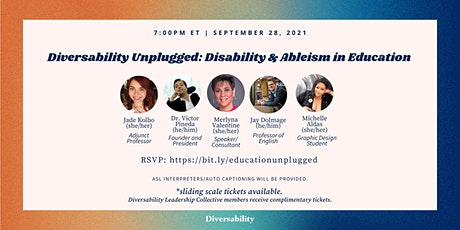 Diversability Unplugged: Disability and Ableism  in Education tickets