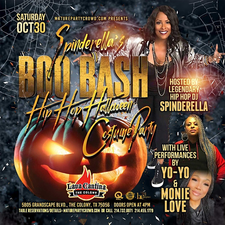 Spinderella's BOO BASH Hip Hop Halloween Costume Party image
