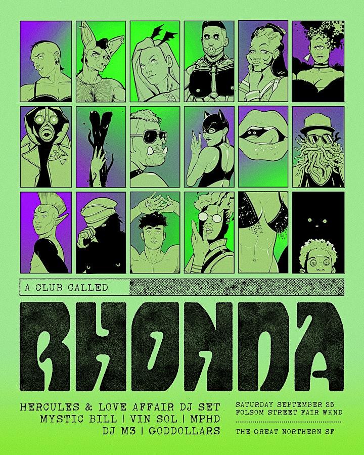 A Club Called Rhonda: Folsom Street Fair Edition image