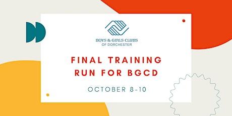 Final Boston Training Run for BGCD tickets