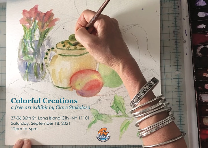 Colorful Creations, A Free Art Exhibit by Artist Clare Stokolosa image