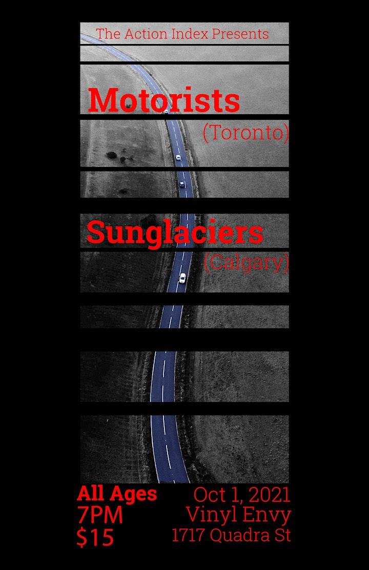 Motorists & Sunglaciers at Vinyl Envy image