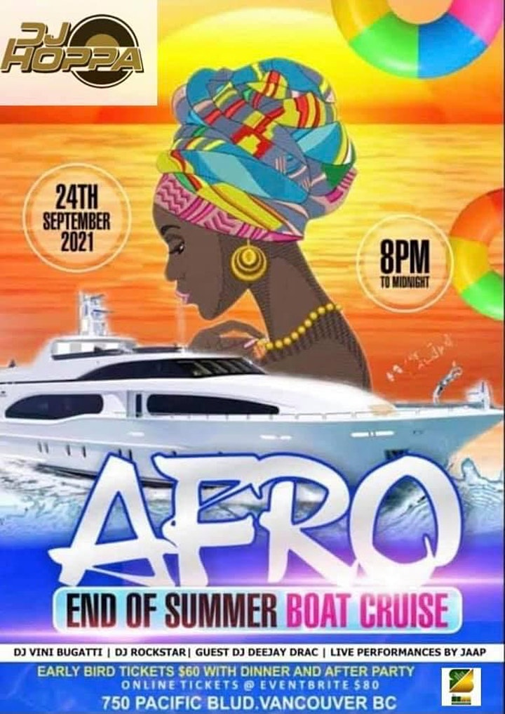 AFRO  END OF SUMMER BOAT CRUISE image