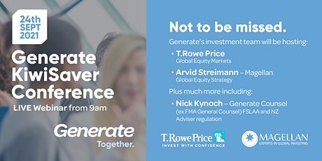 Generate KiwiSaver Conference (now online!) tickets