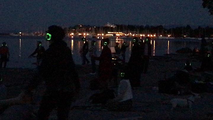 MoonDANCE on the Beach, wearing silent DJ headsets image