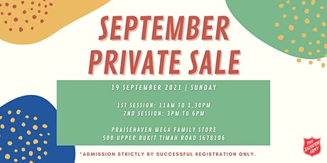 September Private Sale (2nd Session) tickets