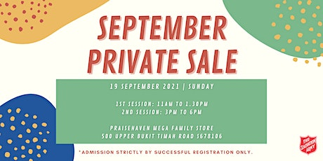 September Private Sale (1st Session) tickets