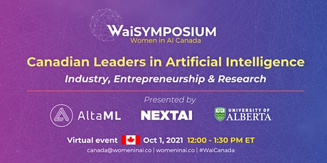 WaiSYMPOSIUM : Canadian Leaders in Artificial Intelligence tickets