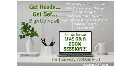 Live Q&A Zoom session for those familiar with the Utah OSR Land Co-op tickets