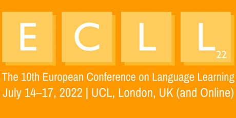 The 10th European Conference on Language Learning (ECLL2022) tickets