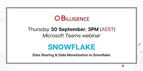 Data Sharing & Data Monetisation in Snowflake tickets