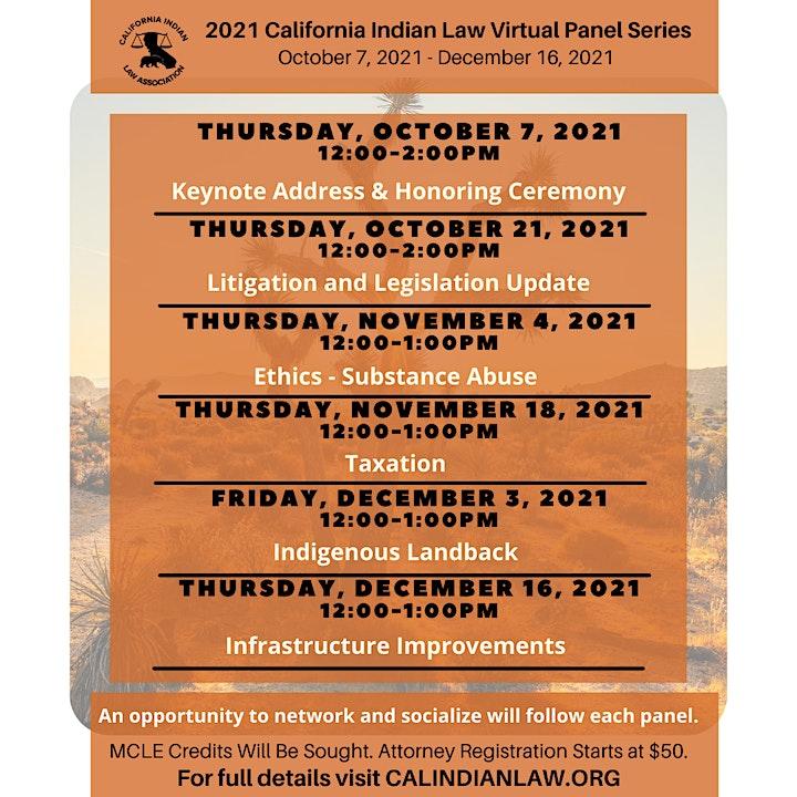 2021 California Indian Law Virtual Panel Series image