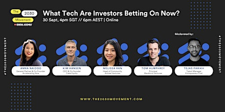 2030 Movement: What Tech Are Investors Betting On Now? tickets