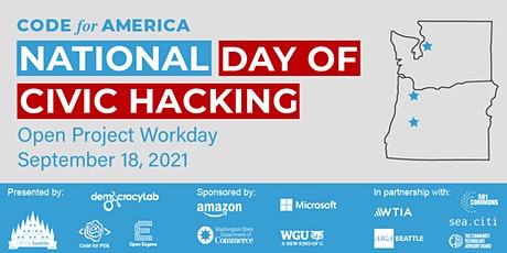 2021 National Day of Civic Hacking - Open Project Workday tickets