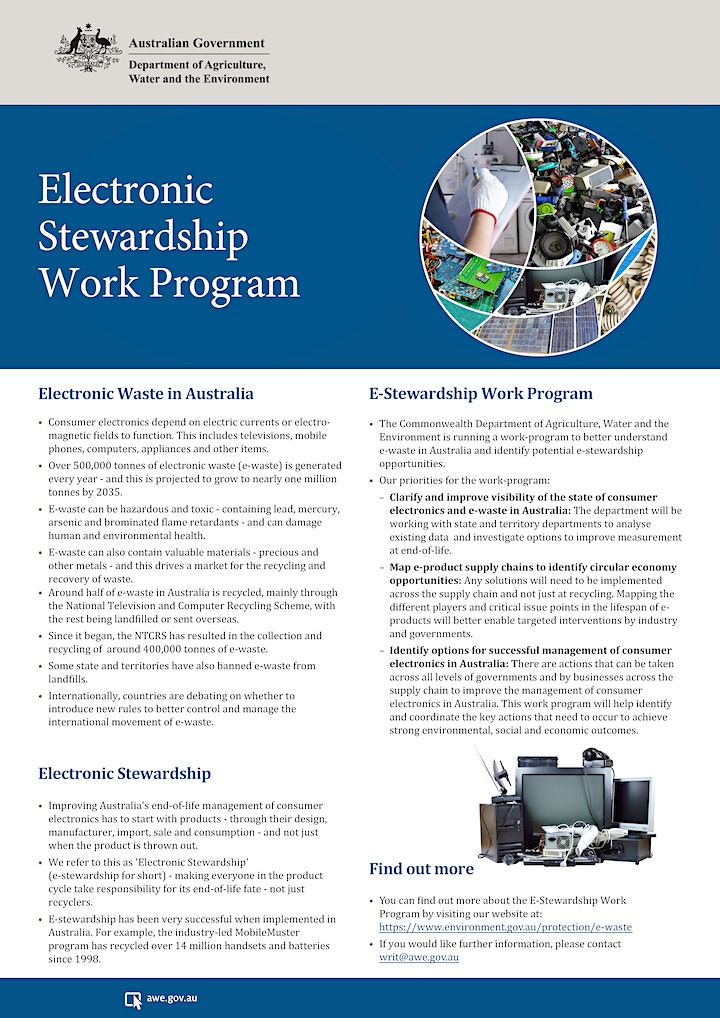 Electrical & electronic products roundtable - ACT NoWaste/Commonwealth image