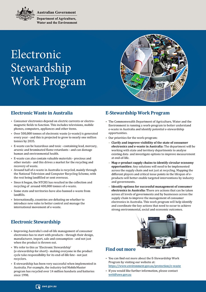 Electrical & electronic products roundtable - NSW DPI/Commonwealth image