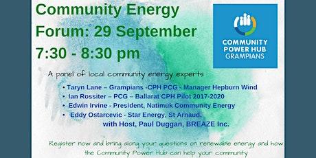 Community Energy Forum tickets