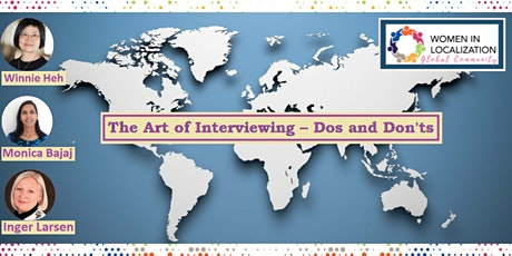 WLGC: The Art of Interviewing – Dos and Don'ts tickets