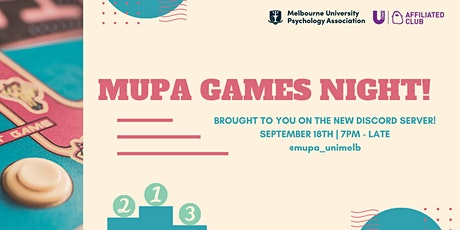 MUPA Games Night tickets