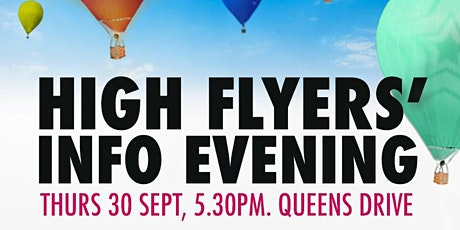 High Flyers' Evening Thursday 30th September 2021 (Physical event) tickets