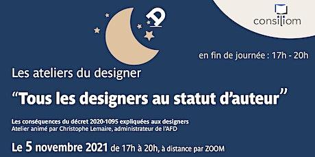 Tous les designers au statut d'auteur. Décryptage du décret 2020-1095. billets