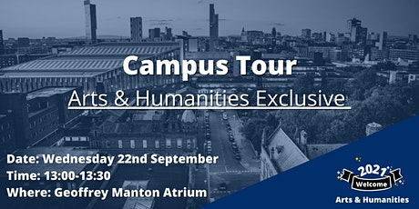Arts & Humanities Campus Tour tickets