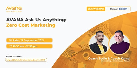 AVANA Ask Me Anything: Zero Cost Marketing tickets